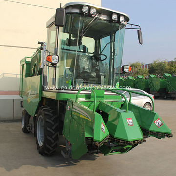 two row self propelled corn harvester machine